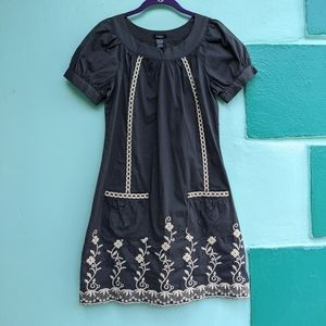 Rhapsody emroidered day dress